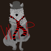 Wolf commission WIP 1 by Allixi