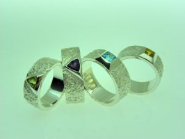 Silver Ring Collection by orfeujoias