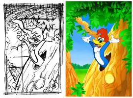Woody Woodpecker WIP by Harnois75