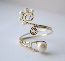 Wire Wrapped Ring with Pearls *Giveaway* by WrappedbyDesign