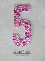 Pink Jewel Embellished Cake Topper by ArteDiAmore