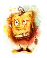 SpongeBob in Watercolour by Veleven
