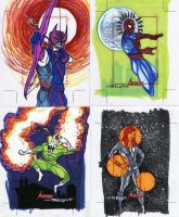 Marvel Greatest Heroes cards 16 by TomKellyART