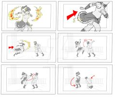 Korra Storyboard 04 by Chocolerian