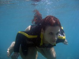 Lara Croft wetsuit - underwater2 by TanyaCroft