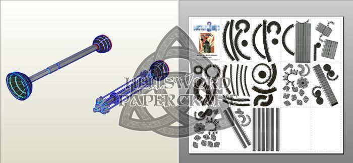 Doctor Who Dalek Weapons Papercraft by HellswordPapercraft