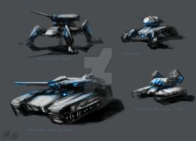 Federation Ground Vehicles by AlphaAnime