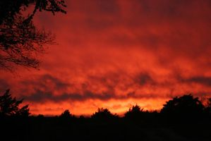 Sky on Fire by crumpstock