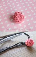Rose Ball Necklace by CantankerousCupcake