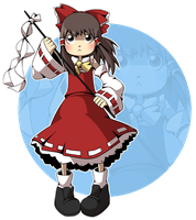 Reimu by CubeWatermelon