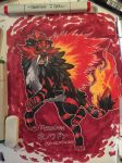 Litten's final evolution Tyrodon! by Pixelated-Takkun