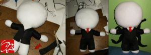 Slender Man Plushie by SuperSkyseeker