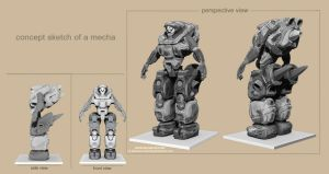 Concept Mecha by Bamboo-Learning