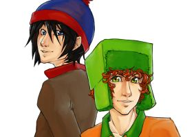 Stan and Kyle Close Up by Kinky-chichi