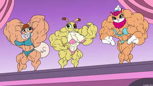 3 huge muscular pets by lilron003