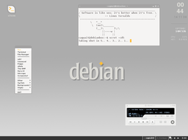 debian_flux light by cagwait