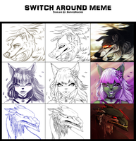 Switch AROUND meme by Snow-Body