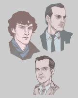 Sketch Time / Jim and Sherlock by DaryaSpace