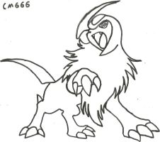 Absol Sketch, BUT REDONE OMFG!!!!!!!!!!!!!!!!!!!!! by CoolMan666