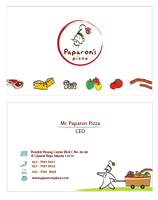 Paparon's Pizza Name Card by tienTOON