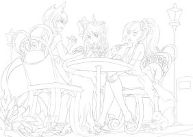 Cake Party Lineart by TheNewHorde
