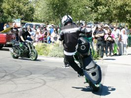 Stunt Riders at Car Show - 11 by RoadTripDog