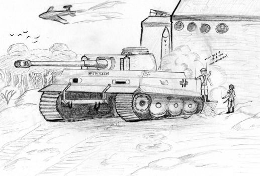 Tiger Tank WWII by champain69
