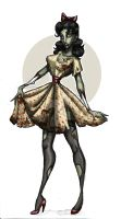 Vintage Zombie Girl by LaTaupinette