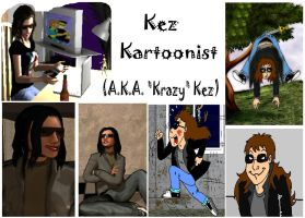 My Alter Ego and Self Caricature by krazykez