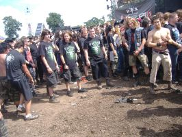 Empty circle pit at Wacken Festival 2008 by Harkfast