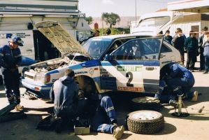 1988, Hannu Mikkola, Mazda, Rally Portugal, Tomar by F1PAM