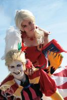 Kefka and Terra by rocknroler