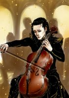 Loki - playing cello by TashinaKalmbach