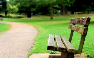 Sitting Alone In the Park by daveofdev