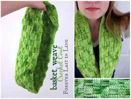 Basketweave Crochet Cowl by the-carolyn-michelle