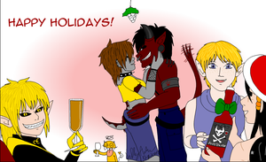 Even some demons do celebrate Christmas (gift) by SailorEnergy