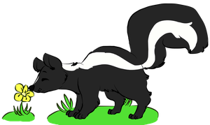 Skunk Commission!! by chara-has-knives