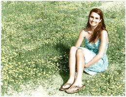 Kaleigh in the flowers by Haeddre