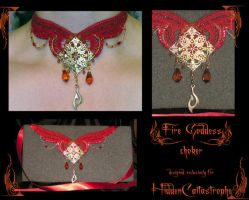 FireGoddess Choker by redLillith