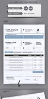 Professional Invoice A4 by renefranceschi