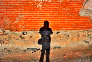shadow of a man by ISLEOFMANNPHOTOS