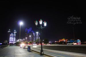 night Abu Dhabi city by amirajuli
