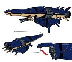 Garfish Troop Carrier by kevarin