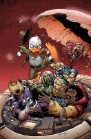 Howard the Duck Vs Zombies by GURU-eFX