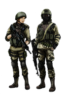 BF4 RU Assault class (color) by ThomChen114