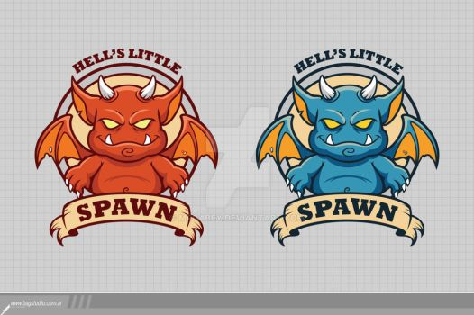 Little Devil Badge Template by MrGabey