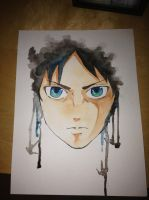 eren jaeger watercolors by cldupzyk