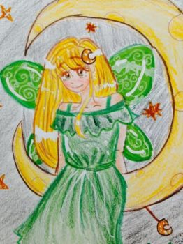 Fairy on the Moon by sunshinesmile7