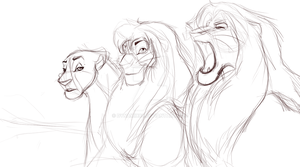 Even Dad can roar better then that: Sketch by Dynamix88