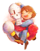 The skeleton likes hug and stroked by aru0